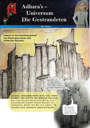 Adharas Comic-Anfang
